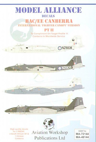 Model Alliance 1/48 BAC/EE Canberra B(I)12s with `Fighter Type'