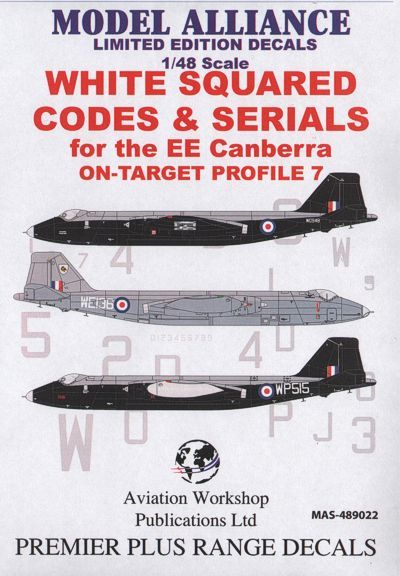 Model Alliance 1/48 White Squared Codes and Serials for BAC/EE C