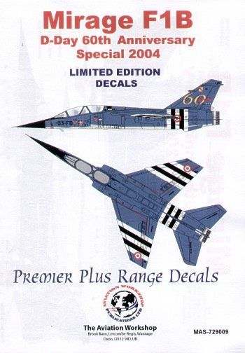 Model Alliance 1/72 Dassault Mirage F.1B D-Day 60th Anniversary Special June 2004 # 729009