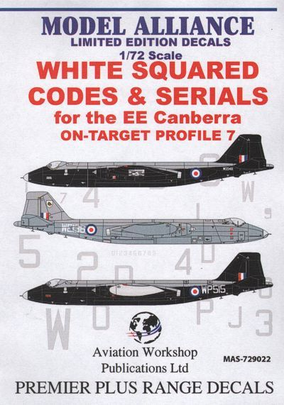 Model Alliance 1/72 White Squared Codes and Serials for BAC/EE C