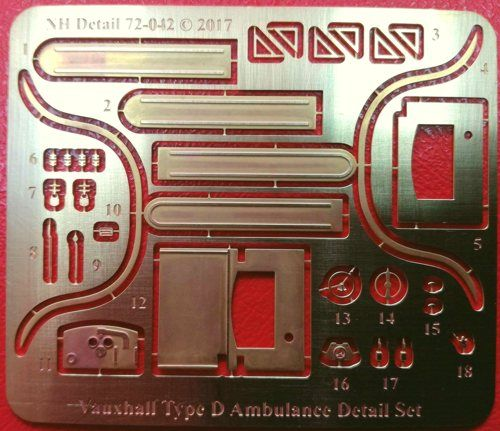 NH Detail 1/72 Vauxhall Type D Ambulance Detail Set # NHM72042