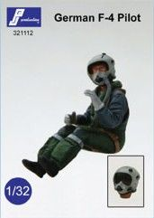 PJ Productions 1/32 German modern pilot seated in McDonnell F-4F Phantom or Panavia Tornado # 321112