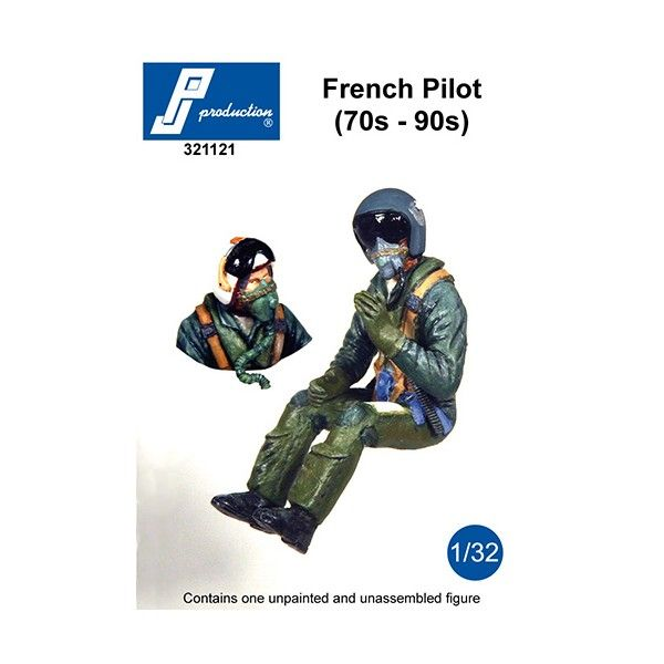 PJ Productions 1/32 Modern French Pilot of the 70s to 90s # 321121