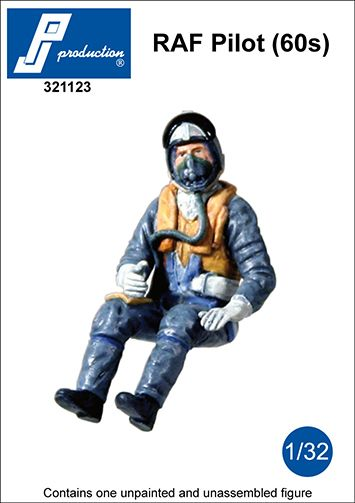 PJ Productions 1/32 RAF Pilot Seated in A/C (60s) # 321123