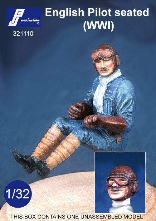 PJ Productions 1/32 WWI English Pilot seated # 321110