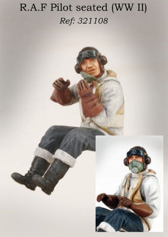 PJ Productions 1/32 WWII RAF Pilot seated # 321108