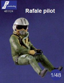 PJ Productions 1/48 Dassault Rafale Pilot Seated in Aircraft # 481124