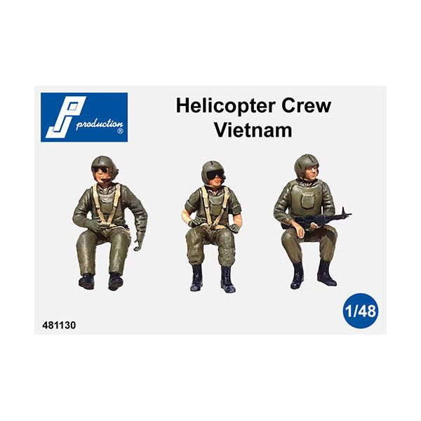 PJ Productions 1/48 Helicopter Crew Seated 'Vietnam' (3 figures) # 481130