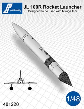 PJ Productions 1/48 JL 100R Rocket Pod # 481220
