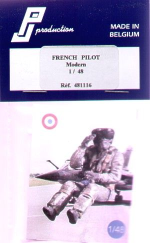 PJ Productions 1/48 Modern French Pilot seated # 481116