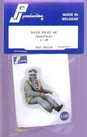 PJ Productions 1/48 NATO Pilot 1960's seated in aircraft # 481118