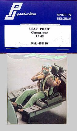 PJ Productions 1/48 USAF Pilot Korean War seated # 481110