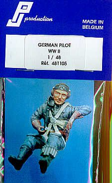 PJ Productions 1/48 WWII German Pilot seated # 481105