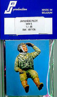 PJ Productions 1/48 WWII Japanese Pilot seated # 481106