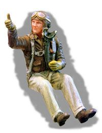 PJ Productions 1/48 WWII USAF Europe Fighter Pilot seated # 4811