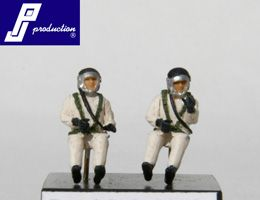 PJ Productions 1/72 2 French 1960's High Altitude pilots seated