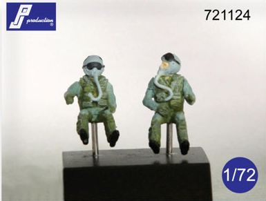 PJ Productions 1/72 F-16/F-18 Pilots Seated x 2 # 721124