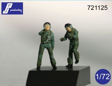 PJ Productions 1/72 F-16/F-18 Pilots Standing and Boarding x 2 #