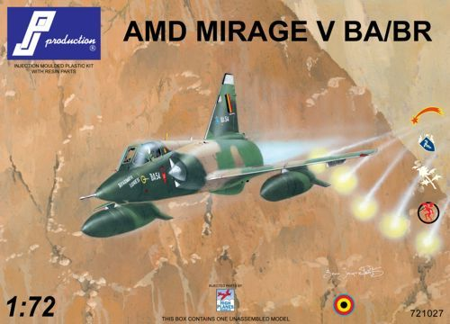 PJ Productions 1/72 Mirage V BA/BR # 721027