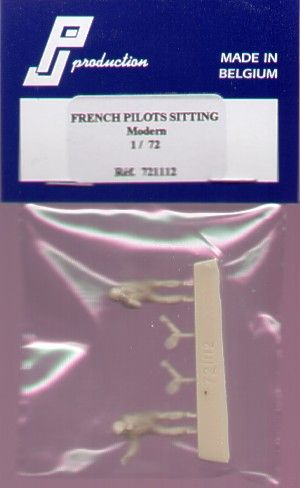 PJ Productions 1/72 Modern French Pilots seated x 2 # 721112