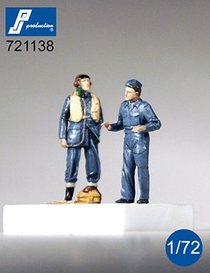 PJ Productions 1/72 RAF Pilot & Mechanic (WWII) # 721138