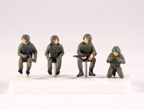 PJ Productions 1/72 Set of 4 U.S. Helicopter Crew (Vietnam War) # 721129