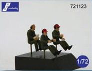 PJ Productions 1/72 Transport pilots seated x 3 # 721123