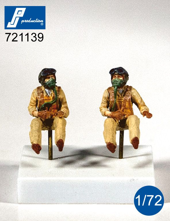 PJ Productions 1/72 U.S. Navy Pilots Seated in A/C (50s) # 721139