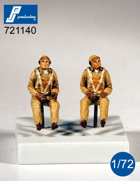 PJ Productions 1/72 U.S. Navy Pilots Seated in A/C (WWII) # 721140
