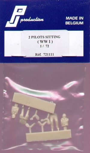 PJ Productions 1/72 WWI Pilots seated x 2 # 721111
