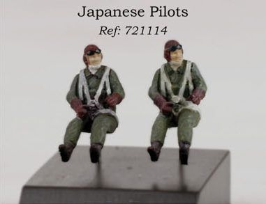PJ Productions 1/72 WWII Japanese Pilots * 2 # 721114