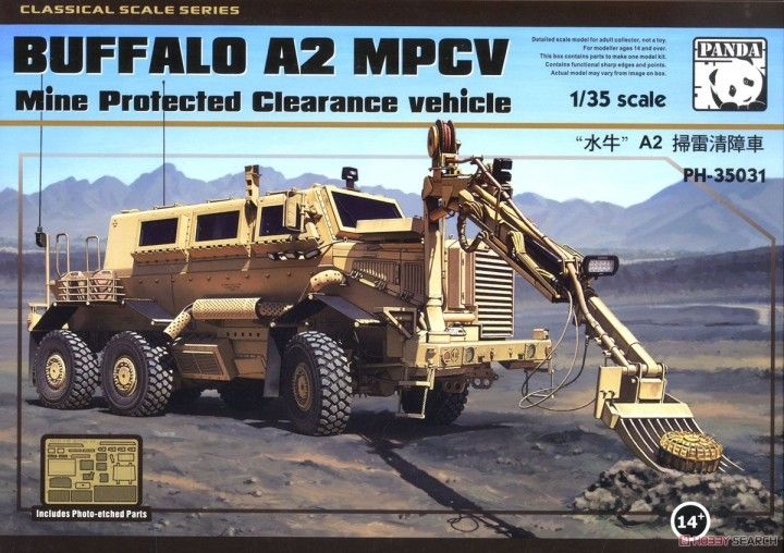 Panda 1/35 Buffalo A2 MPCV Mine Protected Clearance Vehicle # 35031