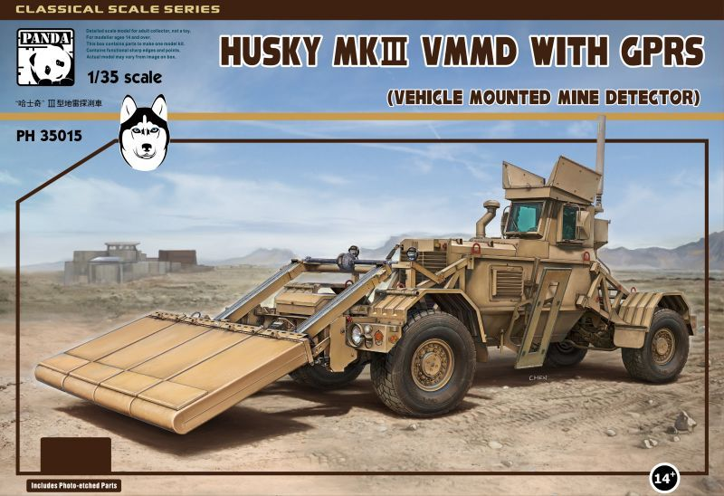 Panda 1/35 Husky Mk.III Vehicle Mounted Mine Detector with GPRS # 35015