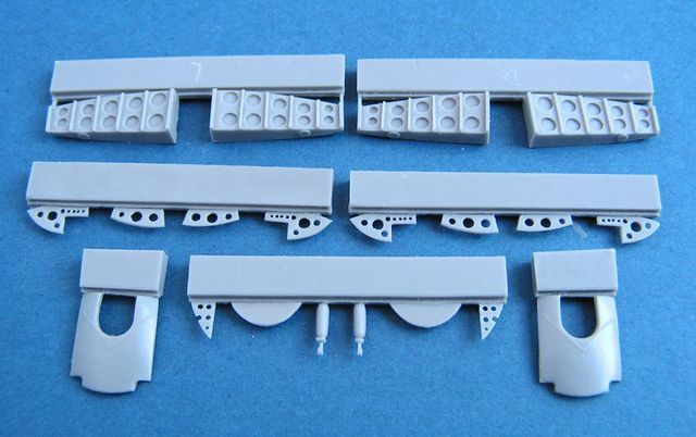 Pavla 1/72 Bristol Blenheim Mk.I Main Undercarriage Wheel Bays #