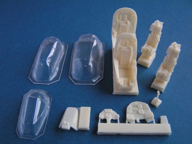 Pavla 1/72 TSR-2 cockpit and canopy set with seats, instrument p