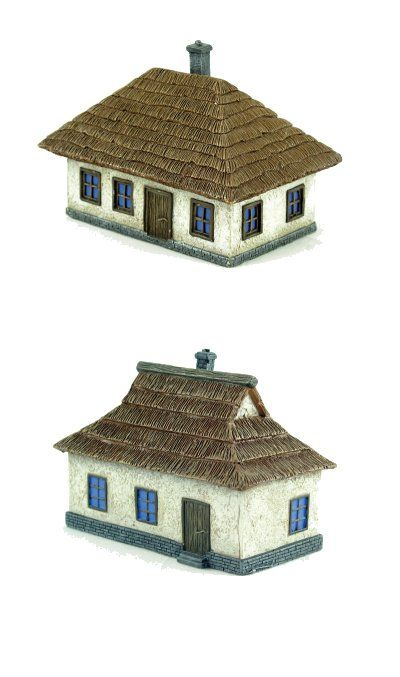Pegasus Hobbies 1/144 Ukrainian House - 1 Large & 1 Small Pre Pa