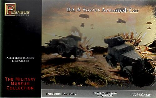 Pegasus Hobbies 1/72 BA-6 Armoured Car - 2 kits # 7672