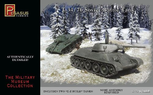 Pegasus Hobbies 1/72 Soviet T-34/76 (2 per box) # 7661