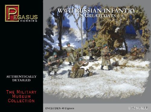 Pegasus Hobbies 1/72 WWII Russian Infantry in Greatcoats # 7271