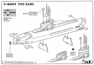 Planet 1/200 Typ XXIII U-Boat (Submarines) # NS011