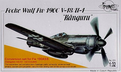 Planet 1/32 Focke Wulf Fw190C V-18/U-1 Kanguru conversion set #