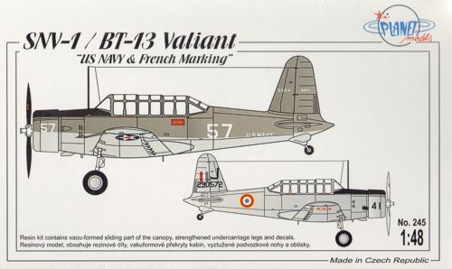 Planet 1/48 SNV-1 / BT-13 Valiant US Navy & French Marking # 245