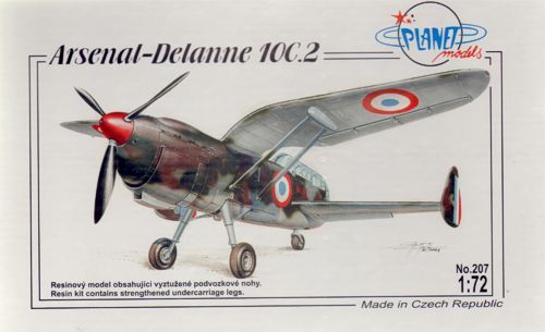 Planet 1/72 Arsenal-Delanne 10C.2 # 207