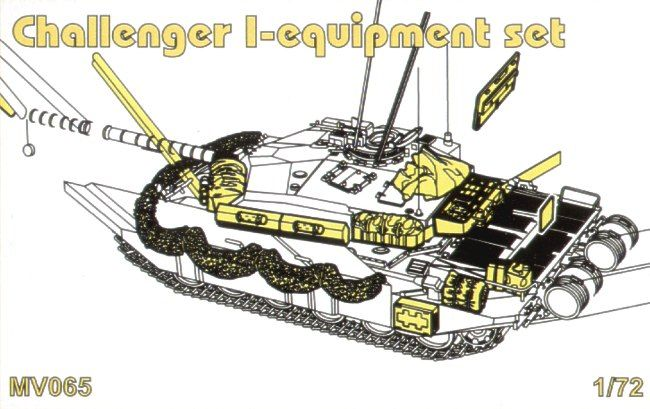 Planet 1/72 Challenger I Equipment Set # MV065