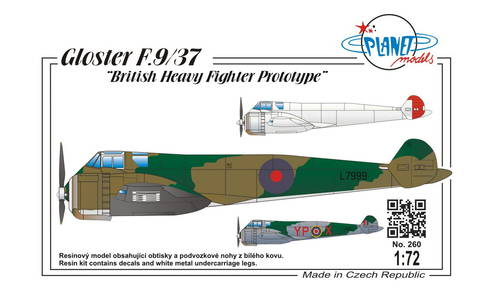 Planet 1/72 Gloster F.9/37 # 260