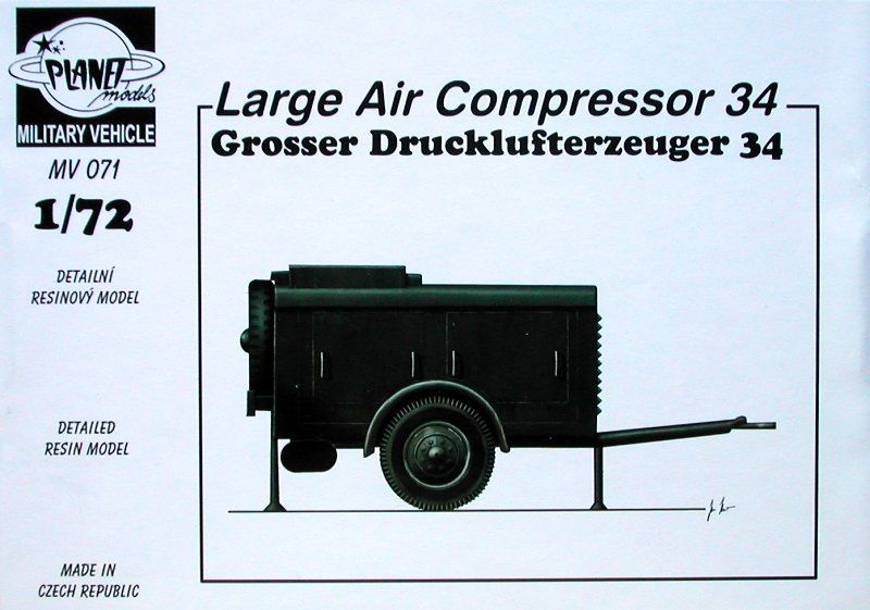 Planet 1/72 Grosser Drucklufterzeuger 34 Large Air Compressor #