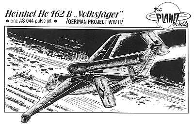 Planet 1/72 Heinkel He162B Volksjager with 1 AS 044 Pulse Jet # 872