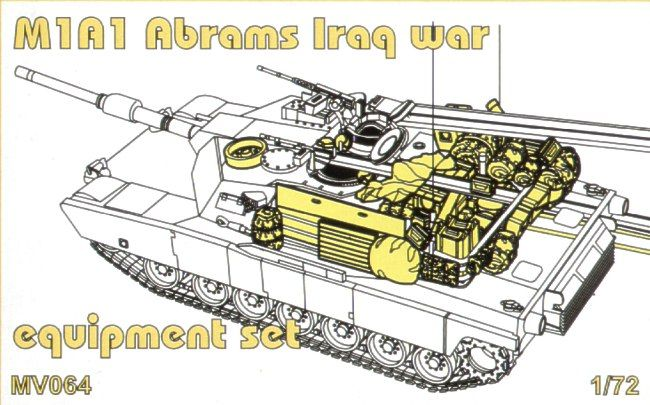 Planet 1/72 M1A1 Abrams Equipment Set # MV064