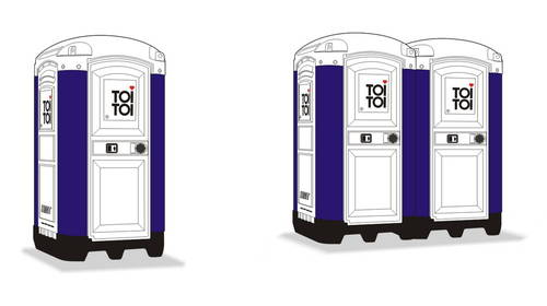 "Planet 1/72 Portable Toilet ""TOI TOI"" x 2 # MV109"