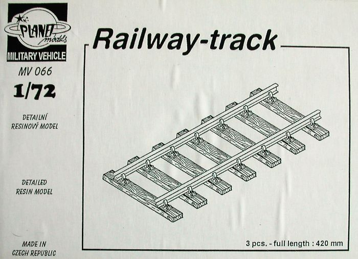 Planet 1/72 Railway track 3 pieces # MV066